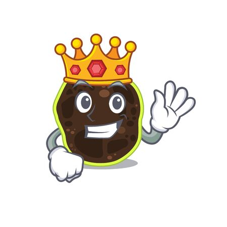 A Wise King of firmicutes mascot design style with gold crown