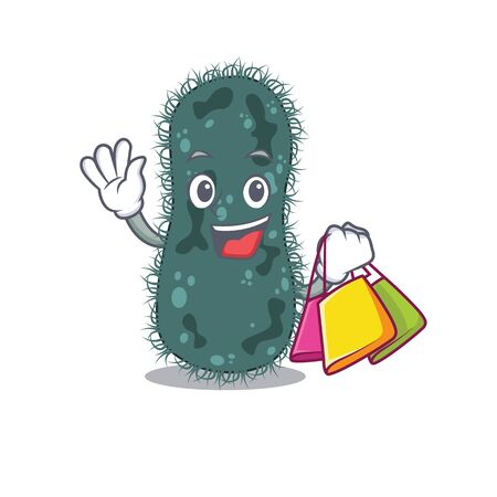 wealthy thermotogae cartoon character with shopping bags Illustration