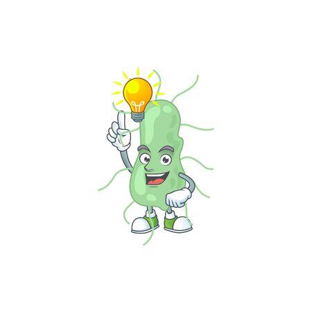 A brilliance salmonella cartoon design concept have an idea. Vector illustration
