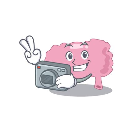 a professional photographer brain cartoon picture working with camera