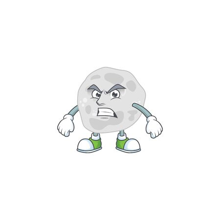 cartoon drawing of fibrobacteres showing angry face