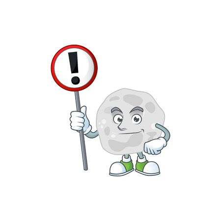 Caricature picture of fibrobacteres holding a sign. Vector illustration