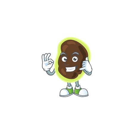 cartoon picture of firmicutes make a call gesture. Vector illustration