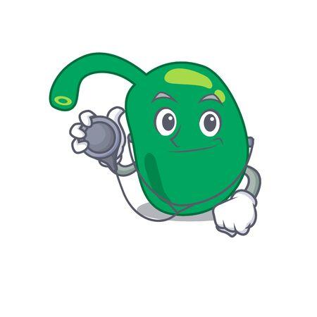 Smiley doctor cartoon character of pineal with tools Ilustración de vector