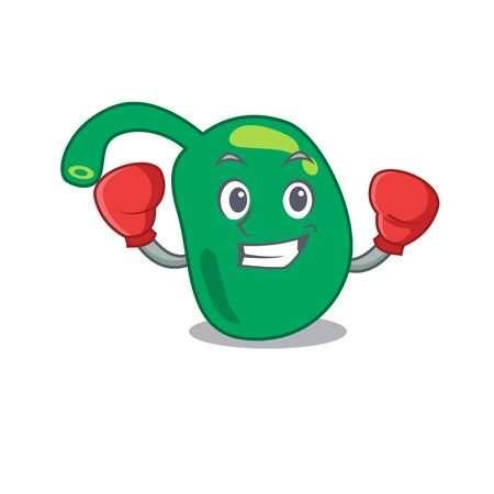 Mascot design of pineal as a sporty boxing athlete