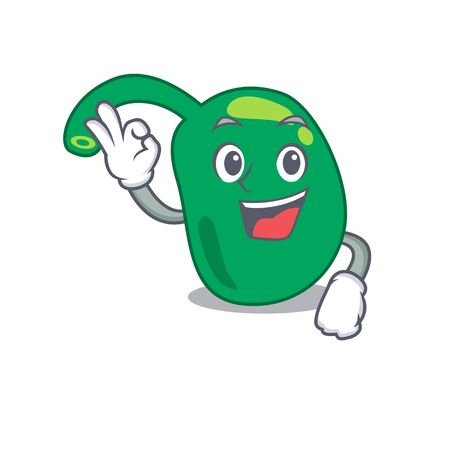 Pineal mascot design style showing Okay gesture finger Illustration