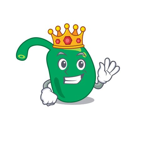A Wise King of pineal mascot design style with gold crown Иллюстрация