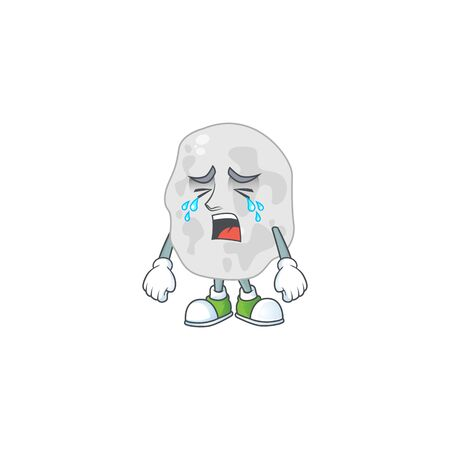 A crying planctomycetes cartoon character drawing concept. Vector illustration Illustration
