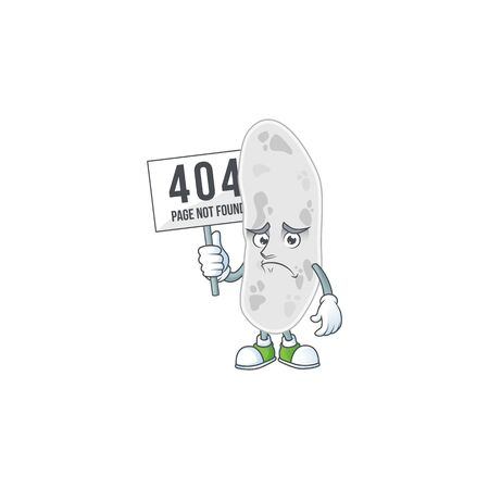 gloomy face of gemmatimonadetes cartoon character with 404 boards. Vector illustration