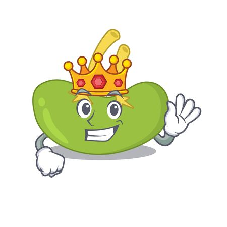 A Wise King of spleen mascot design style with gold crown Иллюстрация