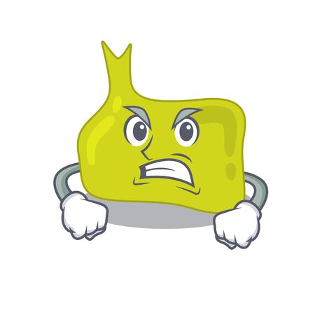 A cartoon picture of pituitary showing an angry face Illustration