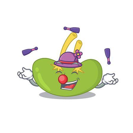 A spleen cartoon design style succeed playing juggling Stock Illustratie