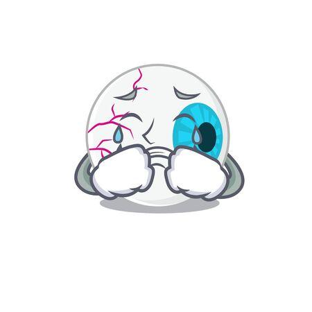 Caricature design of eyeball having a sad face Illustration