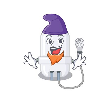 An adorable cartoon design of electric water heater as an Elf fairytale character. Vector illustration