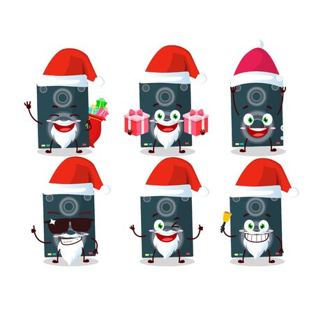 Santa Claus emoticons with loudspeaker cartoon character