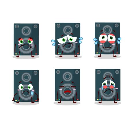 Loudspeaker cartoon with character with sad expression
