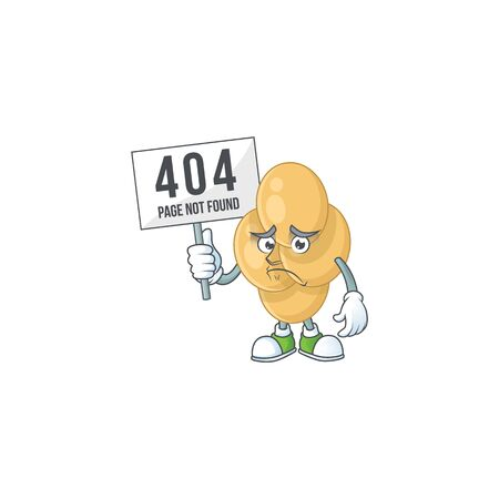 gloomy face of bordetella pertussis cartoon character with 404 boards