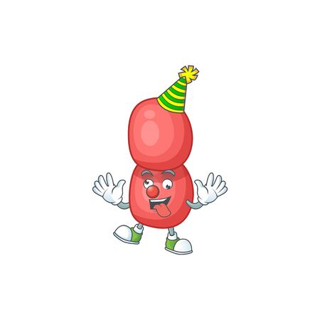 entertaining Clown neisseria gonorrhoeae caricature character design style Illustration