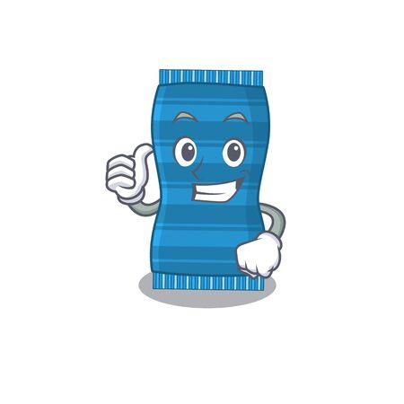 Beach towel cartoon character design showing OK finger. Vector illustration Ilustracja