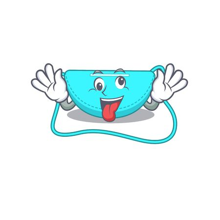 A mascot design of sling bag having a funny crazy face