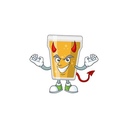 A cartoon image of mug of beer as a devil character. Vector illustration  イラスト・ベクター素材