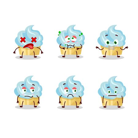 Vanilla cake cartoon character with nope expression
