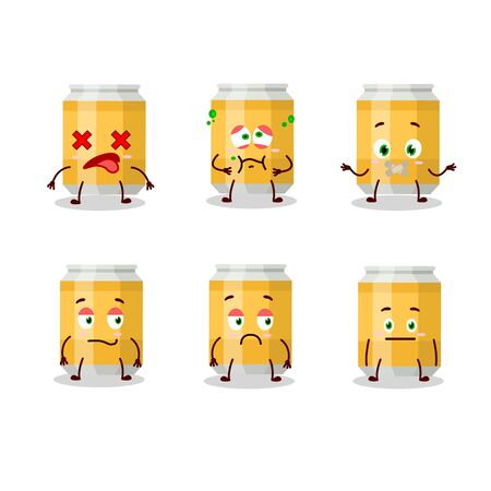 Beer can cartoon character with nope expression Ilustrace