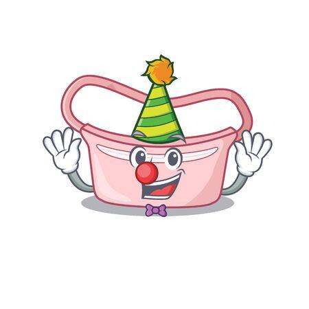 smiley clown women waist bag cartoon character design concept