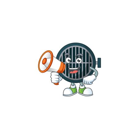 An image of grill cartoon design style with a megaphone Stok Fotoğraf - 147969154