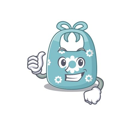 Baby apron cartoon character design showing OK finger