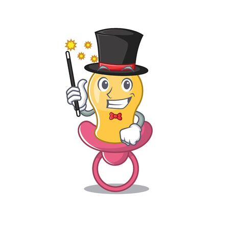A gorgeous smart Magician of baby pacifier cartoon design style