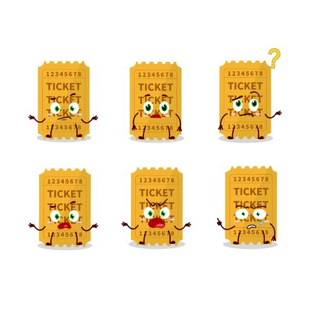 Cartoon character of ticket with what expression