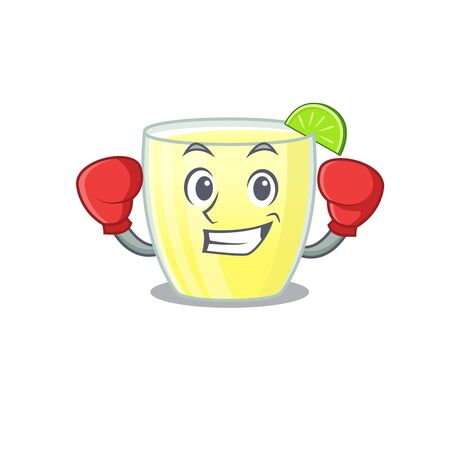 Mascot design of daiquiri cocktail as a sporty boxing athlete