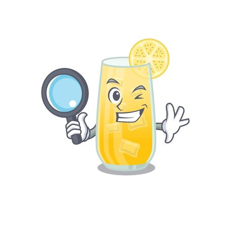 cartoon picture of screwdriver cocktail Detective using tools