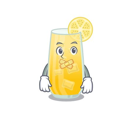 screwdriver cocktail cartoon character style having strange silent face 写真素材 - 148850428