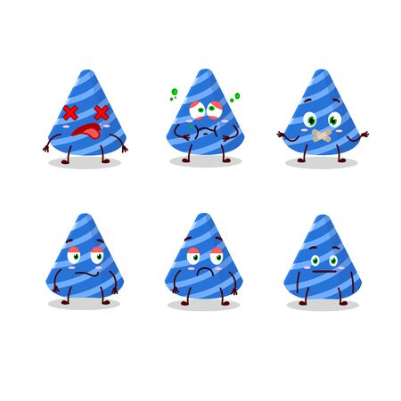 Party hat cartoon character with nope expression