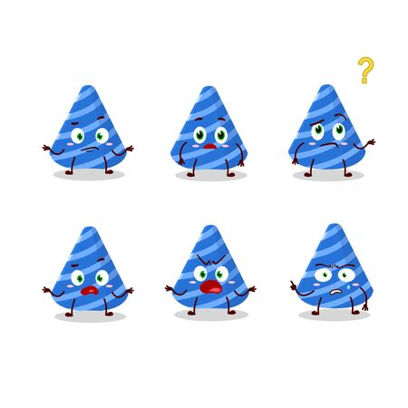 Cartoon character of party hat with what expression
