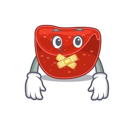 Meatloaf cartoon character style having strange silent face. Vector illustration