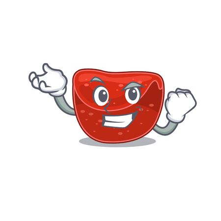 A funny cartoon design concept of meatloaf with happy face. Vector illustration