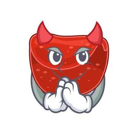 Meatloaf clothed as devil cartoon character design concept. Vector illustration