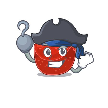 Meatloaf cartoon design in a Pirate character with one hook hand . Vector illustration