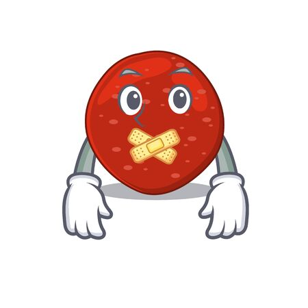 Peperoni cartoon character style having strange silent face. Vector illustration