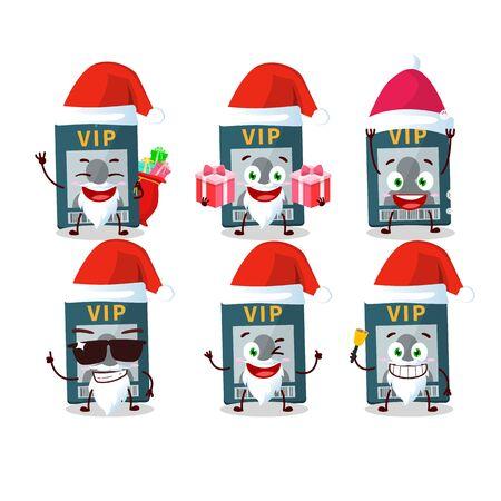 Santa Claus emoticons with vip card cartoon character Illustration