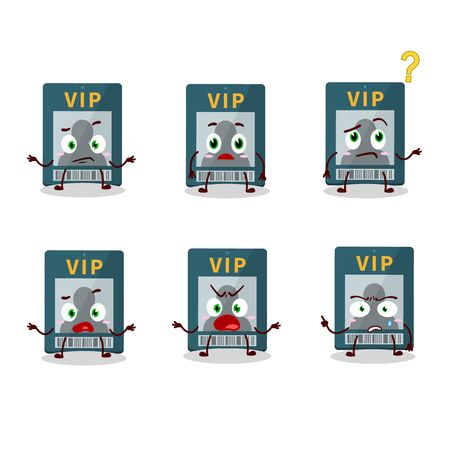 Cartoon character of vip card with what expression