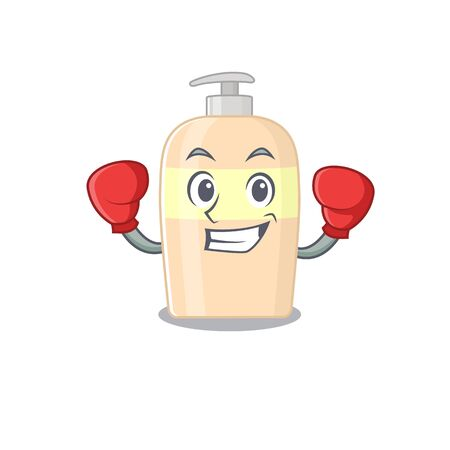 Mascot design of toner as a sporty boxing athlete