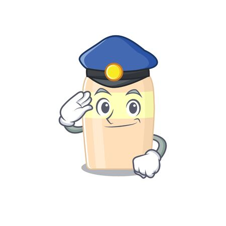 Police officer cartoon drawing of toner wearing a blue hat Illustration