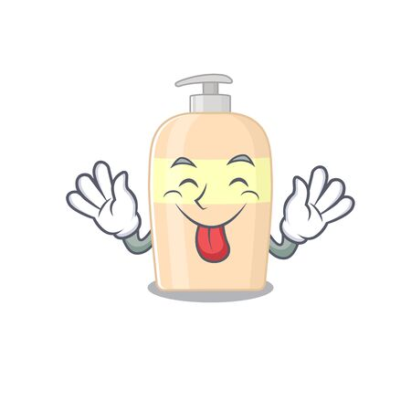 Funny toner cartoon design with tongue out face