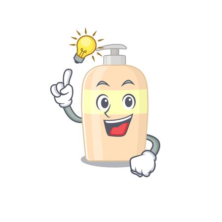Mascot character of smart toner has an idea gesture  イラスト・ベクター素材