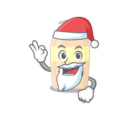 cartoon character of toner Santa having cute ok finger  イラスト・ベクター素材