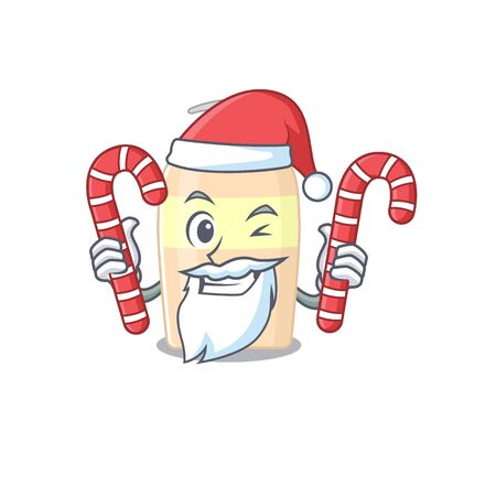 Friendly toner dressed in Santa Cartoon character with Christmas candies  イラスト・ベクター素材
